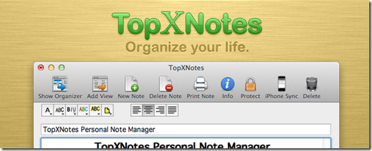 TopXNotes Notepad For Mac, Worth Trying Notepad with Sync Option