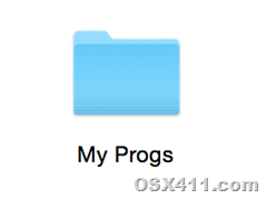 New folder in Mac