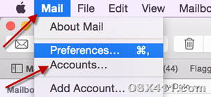 Open accounts in Mail