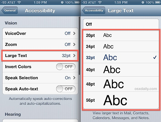 How to Change Font on iPhone 6, 6S and SE by This Simple Method