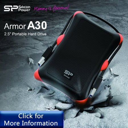 Silicon Power Rugged Armor A30 strong external hard drive for Mac